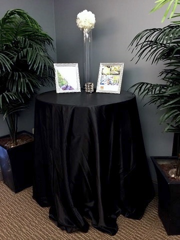 Black Poly Satin Ps Event Rentals