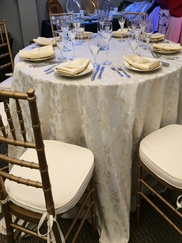 Ivory Majestic Brocade Ps Event Rentals