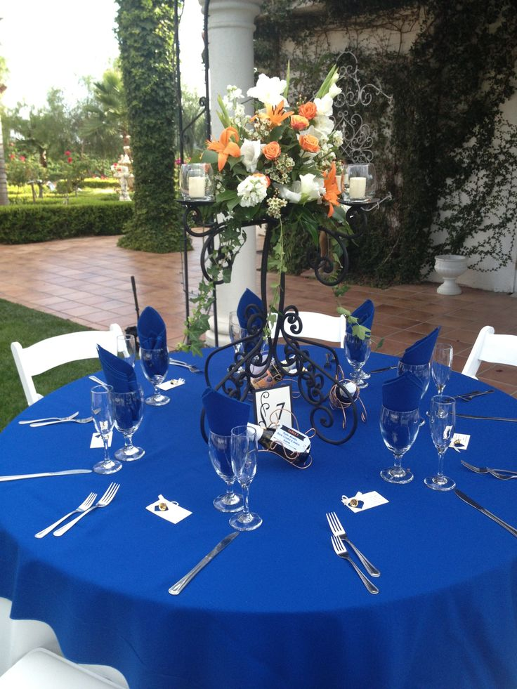 Royal Blue Cotton Blend PS Event Rentals