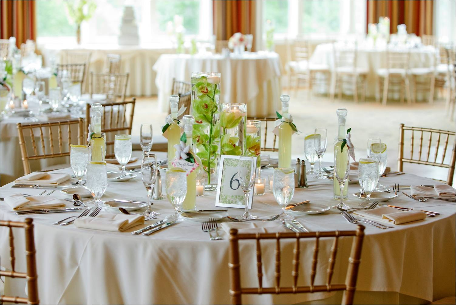 Ivory cotton blend ps event rentals for Simple reception decoration