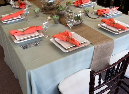 Sedona Burlap Table Runner Ps Event Rentals