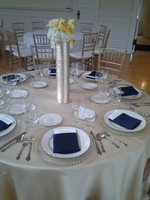 Slate Blue Dupioni Ps Event Rentals